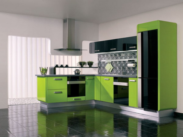 Awesome Remodeling Minimalist Green Kitchen Home Interior Design Ideas